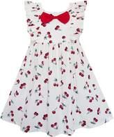 Sunny Fashion FZ71 Girls Dress Bow Tie Cherry Fruit Overlap Design