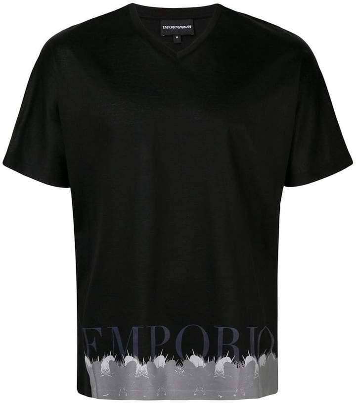 Emporio Armani cactus print T-shirt
