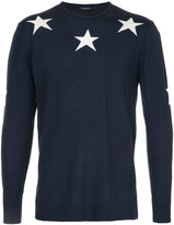 GUILD PRIME star intarsia knit jumper