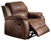 ACME Furniture Bailey Recliner-2 Tone Brown Padded Suede - Acme