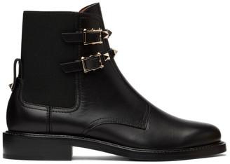Valentino Black Garavani Beatle Rockstud Ankle Boots