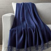 Crate & Barrel Lima Alpaca Indigo Blue Throw Blanket