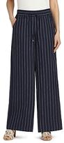 Lafayette 148 New York Linen Pinstripe Drawstring Pants