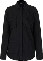 Topshop MOTO Black Denim Utility Shirt