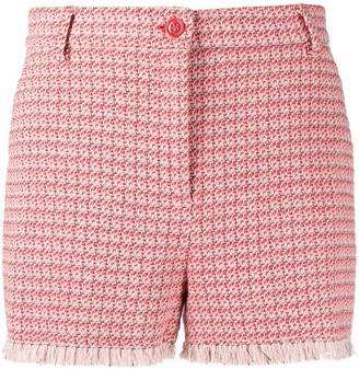 Pinko High-Waisted Tweed Shorts