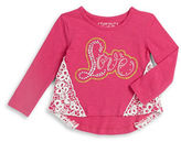 Flapdoodles Girls 2-6x Crochet Embroidery Tee