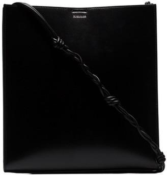 Jil Sander black Tangle medium leather bag