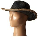 San Diego Hat Company MXM1018 Panama Fedora Hat with Gold Bead Trim