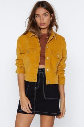 Nasty Gal Womens My Sharona Cropped Jacket - yellow - 8