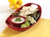 Rachael Ray 14-in. Serveware Serving Platter and Dipper Bowl, Red