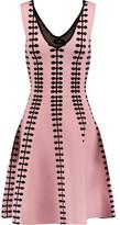 Line Sabrina Stretch Intarsia-Knit Dress