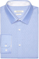 Perry Ellis Slim Fit Sky Dobby Dress Shirt