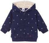 Petit Bateau Baby boys zippered lined sweatshirt