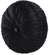 J. Queen New YorkTM Bradshaw Black Tufted Round Throw Pillow in Black