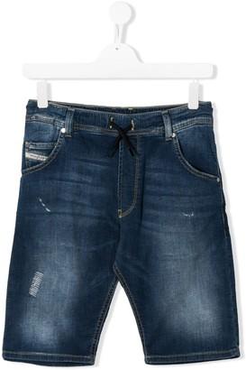 Diesel distressed denim shorts