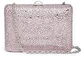 Rodo Strass pavé leather box clutch