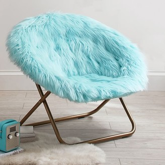 Pottery Barn Teen Himalayan Plume Faux-Fur Hang-A-Round Chair
