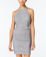 City Studios Juniors' Embellished Bodycon Dress