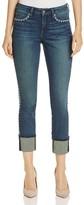 NYDJ Petites Alina Wide Cuff Ankle Jeans in Oak Hill