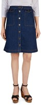 Gerard Darel Justine Denim Skirt