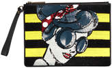Alice + Olivia Stace Face Large Zip Pouch With Wrislet