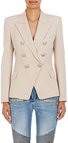 Balmain Women's Wool Double-Breasted Blazer-BROWN