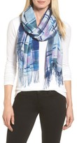 Nordstrom Women's Handicraft Plaid Tissue Weight Wool & Cashmere Scarf