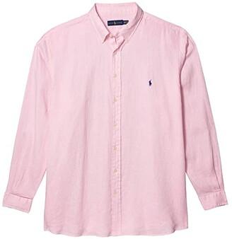 Polo Ralph Lauren Big & Tall Big Tall Linen Shirt (Carmel Pink) Men's Short Sleeve Button Up