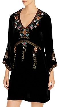 Johnny Was Esther Embroidered Velvet Dress