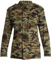 Nili Lotan Ashton camouflage-print stretch-cotton jacket