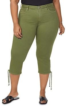 Nydj Plus Capri Jeans with Drawcord Hem in Olivine
