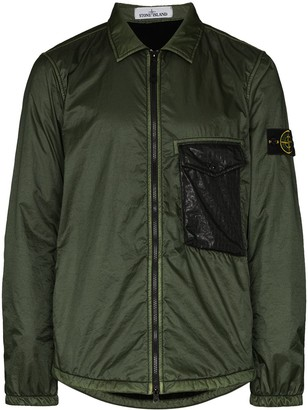 Stone Island Lightweight Zip-Up Shirt Jacket
