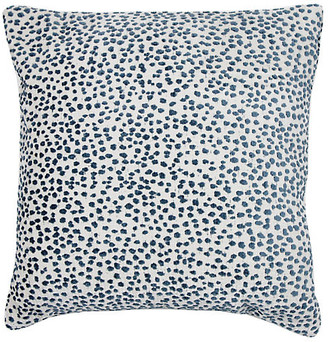 The Piper Collection Lola 22x22 Dots Pillow - Prussian Blue/White