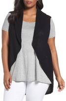 Foxcroft Plus Size Women's Cotton Knit Circle Vest