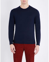 Gieves & Hawkes Crewneck Wool And Cashmere-blend Knitted Jumper