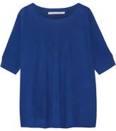 Diane von Furstenberg Alycia Ribbed Wool And Silk-blend Sweater - Bright blue