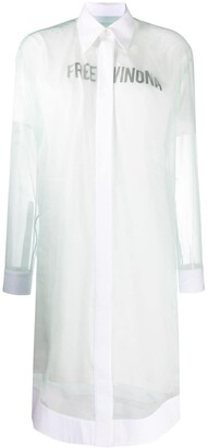 Off-White Free Winona-print shirt dress