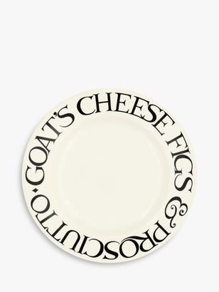 Emma Bridgewater Black Toast Fig & Cheese Plate, 22cm, Black/White