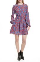 Diane von Furstenberg Women's Print Silk Drawstring Minidress