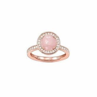 Thomas Sabo TR1971-417-9 Women's Ring 925 Silver Partially Gold-Plated Zirconia White 52 Rose Gold