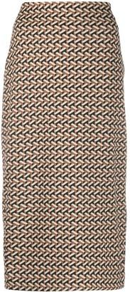 Dvf Diane Von Furstenberg Geometric Pattern High-Wasit Skirt