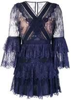 Self-Portrait ruffled lace dress