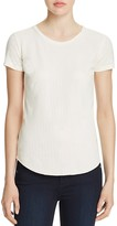 Majestic Filatures Perforated Leather Front Tee