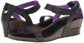Teva Cabrillo Strap Wedge Leather (Black/Purple) - Footwear