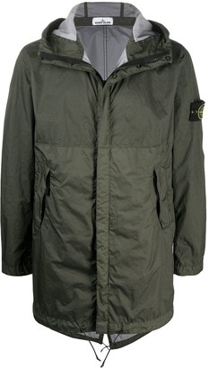 Stone Island Hooded Rain Coat