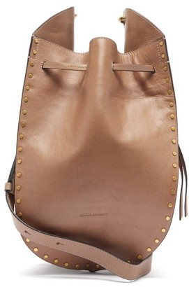 Isabel Marant Taj Small Studded Suede Bucket Bag - Grey