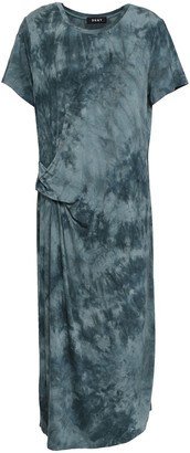 DKNY Tie-dyed Stretch-jersey Midi Dress