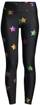Terez Rainbow Star Foil Print Leggings