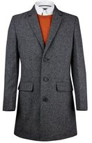 Burton Burton Grey Wool Chesterfield Coat