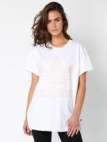 adidas New Womens Osaka Big Trefoil T Shirt In White Tops & T Shirts